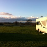 View North from the upper field at Birch Hill Farm Caravan Club CL