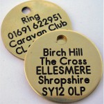 Birch Hill Caravan Club CL Dog Tags for guests to borrow