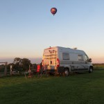 Hot Air Balloon over Birch Hill Caravan Club CL