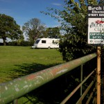 Lower field at Birch Hill Caravan Club CL