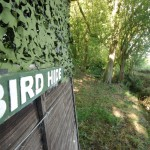 Bird Hide beside the stream in The Dingle at Birch Hill Caravan Club CL