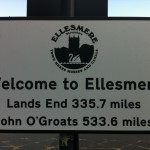 Land's End to John o'Groats Sign in Ellesmere, Shropshire