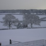 Winter view North East from Birch Hill Caravan Club CL - we are open all year.