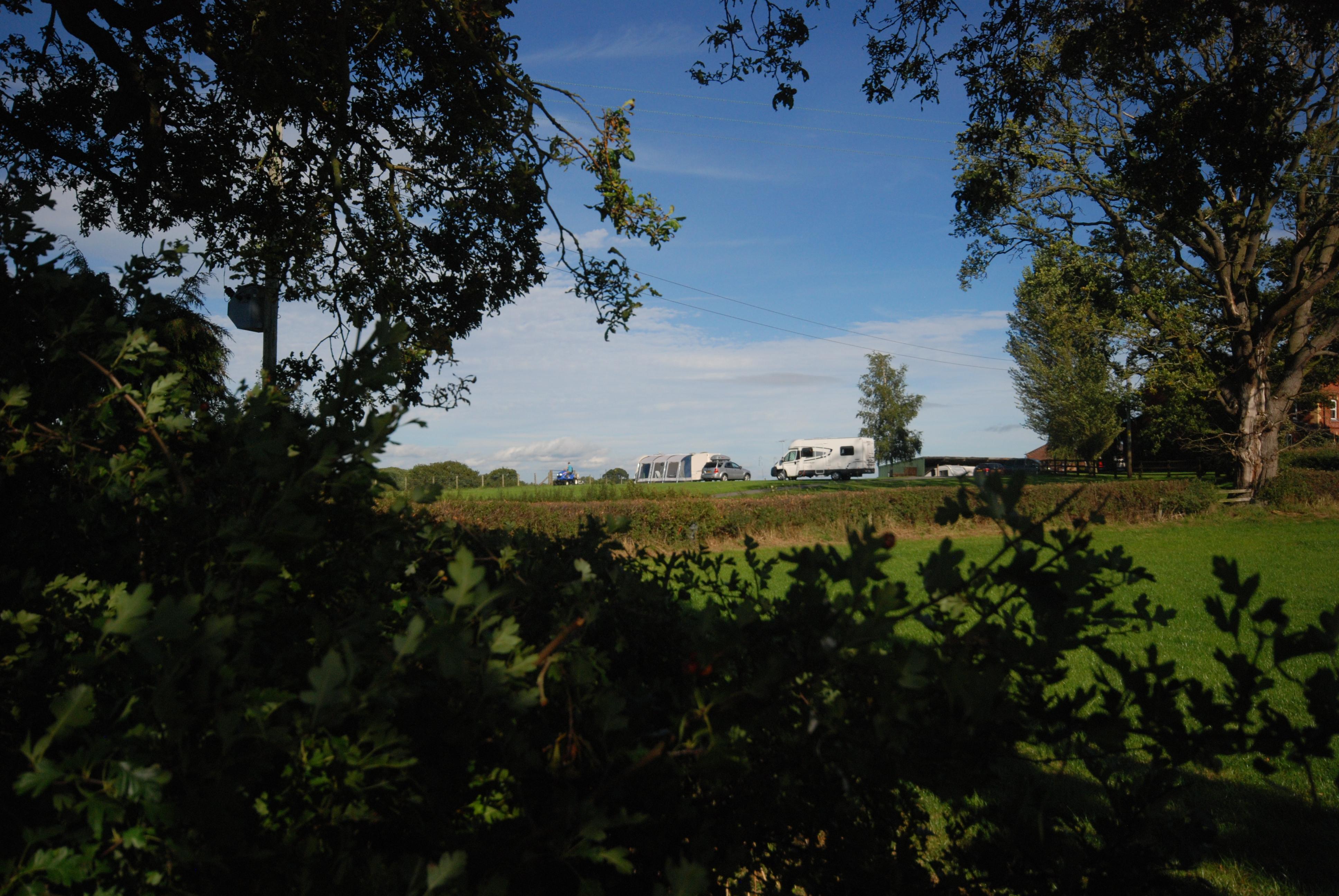 Caravan site seen from The Dingle